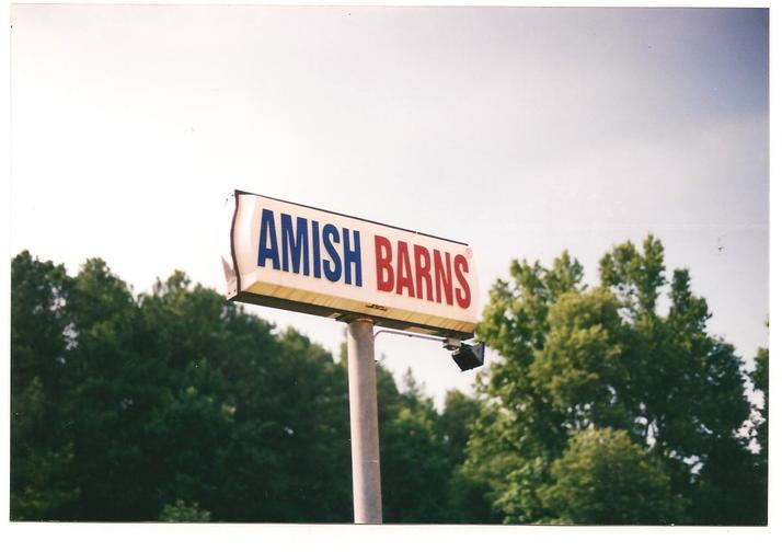 AMISH BARNS SIGN